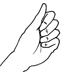 how to draw palm hand holding something