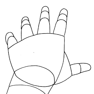 how to draw a hand reaching out to you